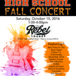 Rebel Lounge Show Saturday, Oct. 15th at 1:00pm!